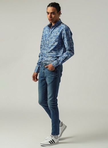 People By Fabrika Erkek  Jean Pantolon PFESS21JP0004 Mavi